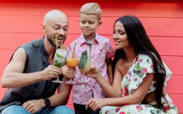 Влад Яма с женой и сыном, Лилия Яма
