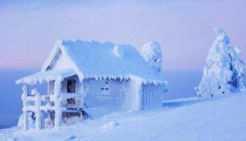 снег, мороз, зима