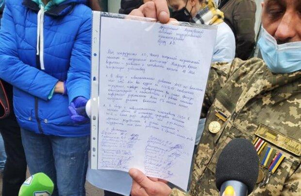 Ветерана АТО не допустили на роботу за участь у протесті медиків: деталі скандалу