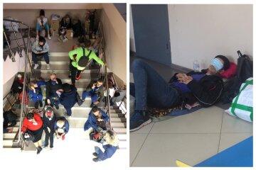 """""""Преступление против человека"""": в Одессе члены избиркомов пятые сутки ночуют с бюллетенями на полу, фото"""