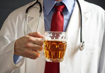 алкоголь, медик, пиво