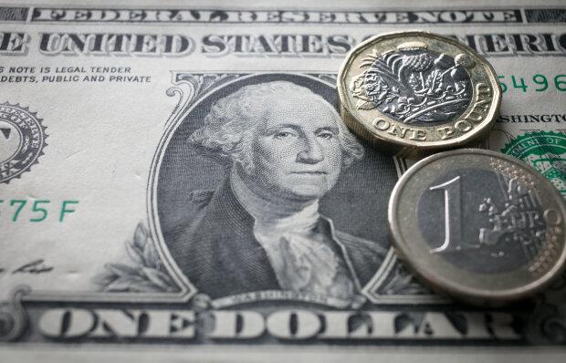 Доллар, евро, фунт, валюта, деньги