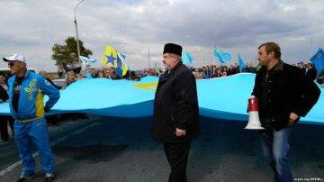 На «Чонгарі» пройшла акція присвячена річниці блокади Криму (фото) (відео)