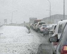 снег пробки