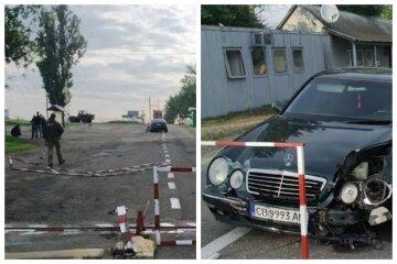 П'яний коп на Мерседесі влаштував погром на кордоні: кадри свавілля