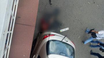 Біля будинку Мотороли розірвало людину (фото, відео)