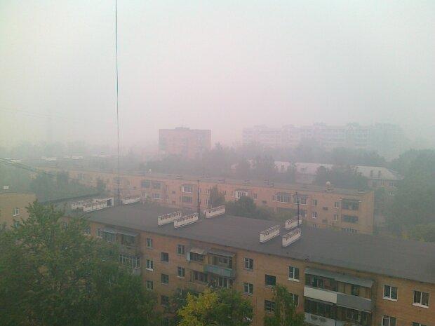 Москва туман
