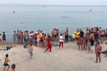 пляж, Люди, потопельник
