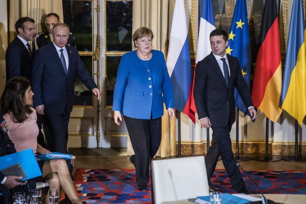 Зеленський, Путін, Меркель у Парижі