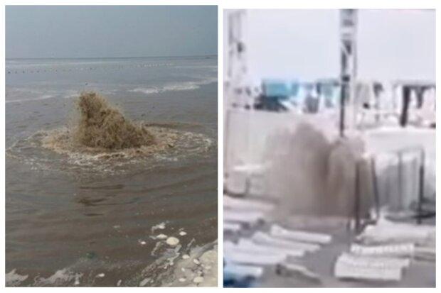 """""""Фонтан нечистот"""": экологическое ЧП на пляже в Одессе, видео"""