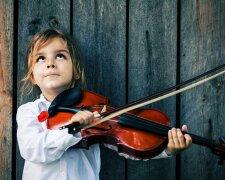 музыка, дети, девочка, музыкальный инструмент, скрипка