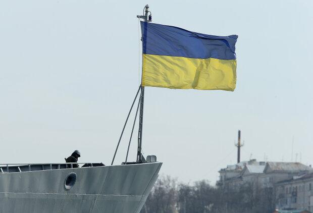 Флаг Украины, флот, оккупация Крыма, корабль