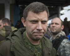 Prime Minister of the self-proclaimed Donetsk People's Republic Alexander Zakharchenko listens