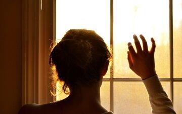 женщина девушка грусть рассавание