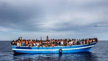 мигранты, море