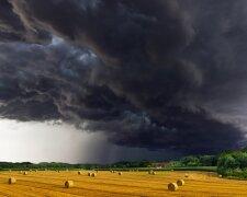 лето, гроза, тучи, поле, погода