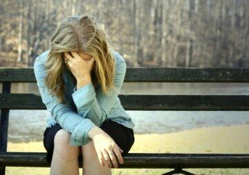 одиночество, грусть, женщина, депрессия