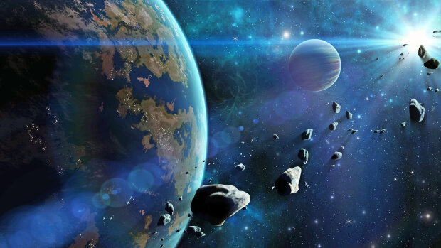 астероид, космос, галактика