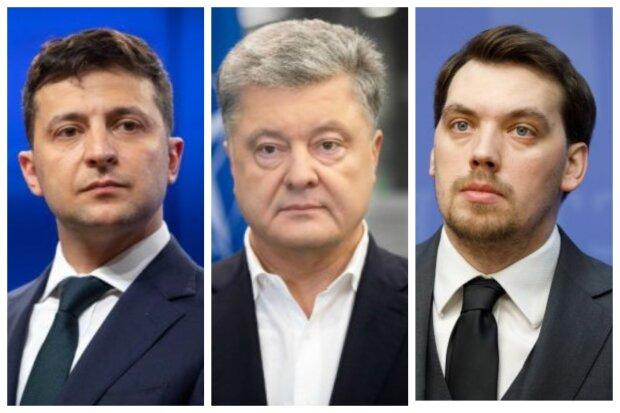 володимир зеленський, петро порошенко, олексій гончарук