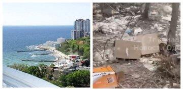 """""""Аркадія, яку ми заслужили"""": одеситка показала завалену сміттям набережну, кадри"""
