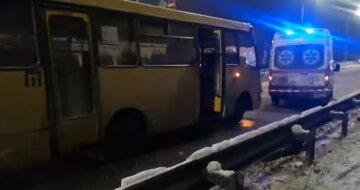 В Киеве маршрутчик сбил человека на переходе: момент трагической ДТП попал на видео