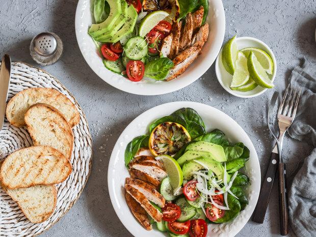 еда, салат, пища, блюдо, мясо