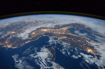 земля, космос, магнитный полюс