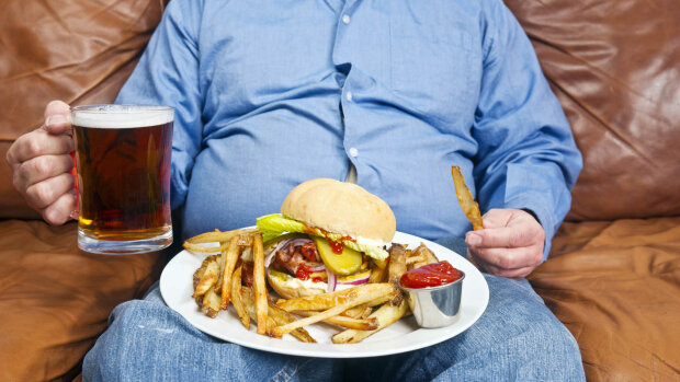 ожирение еда толстяк фастфуд