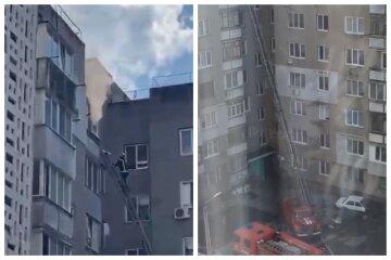 Під Одесою жінка вистрибнула з вікна 9-го поверху, рятуючись від пожежі в квартирі: відео трагедії