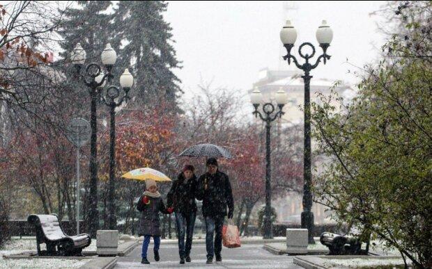 теплая зима, снег, весна