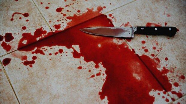 нож,кровь,труп,
