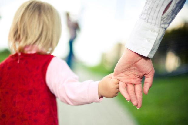 семья, рука, ребенок