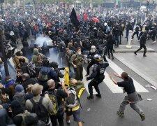 протест, митинг, париж