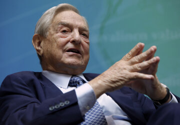 Billionaire investor Soros speaks at a forum during the annual IMF-World Bank meetings in Washington