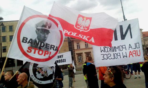 Польша акция протеста Бандера