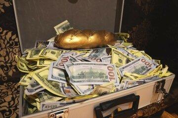 батон, доллары