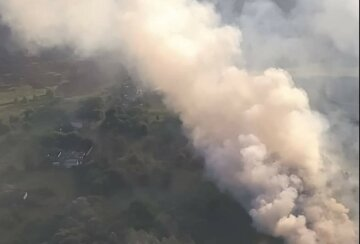 Пожар начал приближаться к домам: авиация привлечена из-за ЧП на Харьковщине, фото