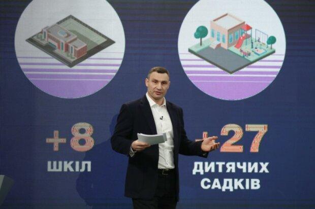 Кличко прозвітував про роботу міської влади: За останні роки ми збудували чи реконструювали 8 шкіл та 27 дитсадків