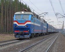 поезд, с вагонами, состав