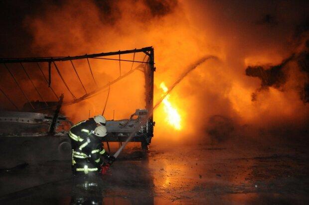 взрыв, пожар