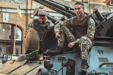 военный парад в киеве, танк, ВСУ, военные