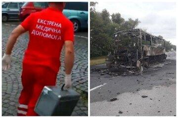 Автобус врезался в фуру и сгорел дотла, что известно о жертвах: кадры с места трагедии