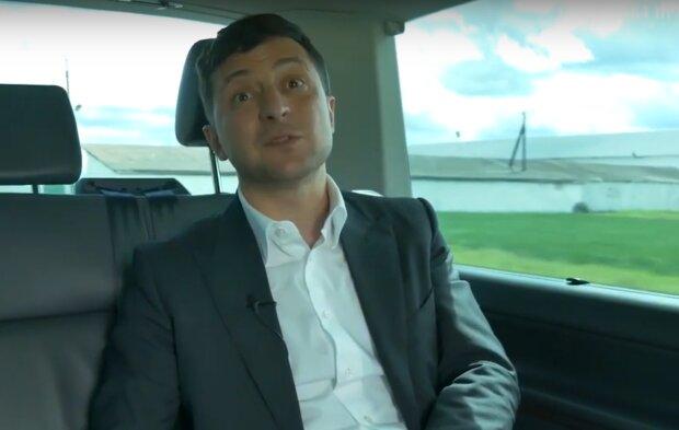 Владимир Зеленский в машине