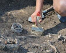 археолог, раскопки, захоронение