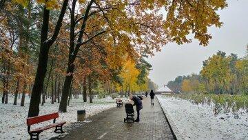 погода сніг осінь