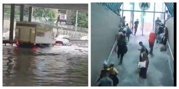 Київ пішов під воду, затоплено метро: кадри найпотужнішої атаки стихії