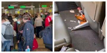 """""""Немає слів і дуже соромно!"""": салон літака перетворився на свинарник після рейсу з Харкова, кадри"""