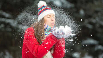 погода, снег, зима, мороз