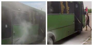 """В Одесі на ходу загорілася маршрутка, відео з місця НП: """"водій зупинився і..."""""""