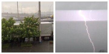"""Поділ затопило"": потужна злива з градом обрушилася на столицю України, кадри негоди"